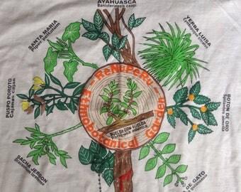 Vintage Peru Ethnobotanical Garden t shirt Ayahuasca