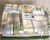 Vintage, Men's Pants 35, Madras, Preppy, Patchwork, Pastel, Brooks Brothers, Motif Pant, Plaid, Trousers, Casual, Theme, Cotton, Designer