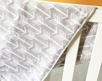 Blanket Double Sided Minky Cuddle Arrows Stroller Size Crib