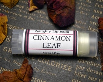 NAUGHTY Cinnamon Leaf Lip Balm - Erotic Lip Balm for Your Naughty Bits - Cinnamon Leaf Oil and Menthol