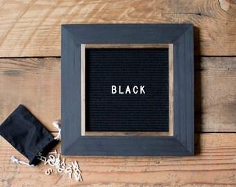 Letter Board - 13''x13'' - Black or Gray Felt - Changeable Plastic Letters. Modern Farmhouse. Letterboard