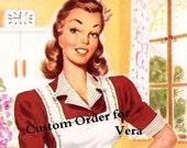 VERA Custom order FOUR Retro Look Turquoise  ATOMIC  Print Panels unlined