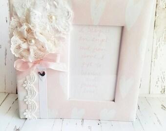 Pink Baby Girl Album, Personalized Album, Pink Baby Album, Quoted Album, Handmade Flowers, Shabby Chic Album, Pink Hearts Album, Blush Book
