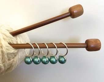 Spearmint - Snag Free Knitting Stitch Markers (Medium) - Fit up to size 11 US (8.0 mm)