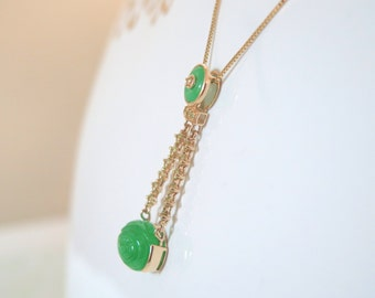 Chinese Jade 14k Gold Fashion Pendant