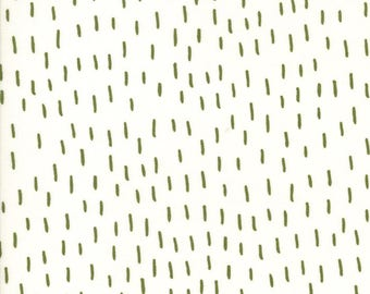 Merrily Just a Dash in Snow and Holly Green,  Gingiber, 100% Cotton, Moda Fabrics, 48214 13