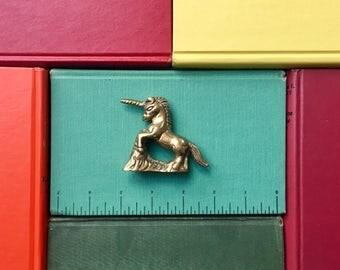 Vintage Petite Brass Unicorn