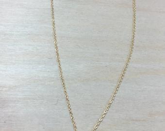 Triple Gemstone  Drop Necklace