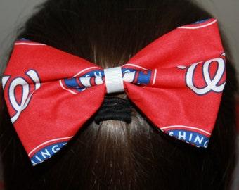 Washington Nationals Hair Bow/Hair Clip Accessory