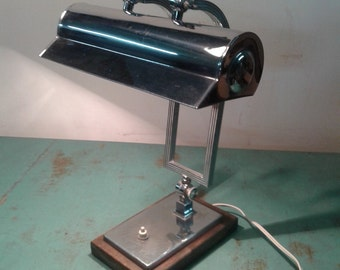 Art Deco desk lamp from the 40s,  office lamp, office decor, study decor,