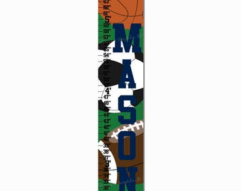 Sports Green Growth Chart Height Chart Ruler
