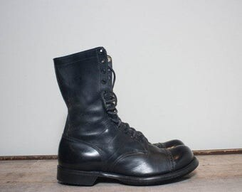 SALE 11 D | Vintage Military Combat Boots 1950's Sky Master Jump Boots