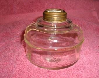 Vintage Clear Glass Oil Lamp Font-#60