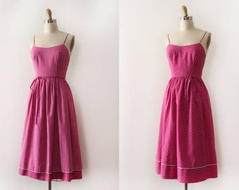 vintage 1970s LANZ dress // 70s REVERSIBLE Lanz day dress