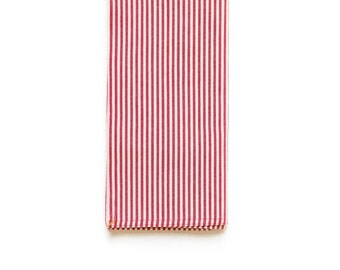 Red Broad Stripe Shop Towel