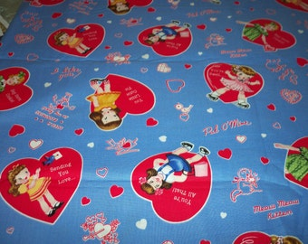 Valentine Fabric I love you Be Mine By The Fat Quarter New BTFQ