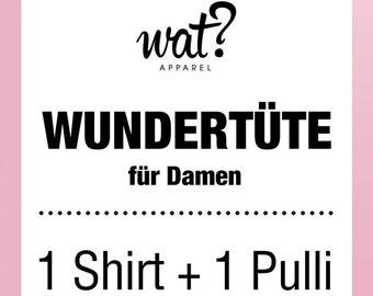 Wundertüte für Damen - 1 Shirt + 1 Pulli