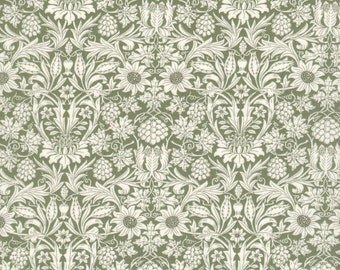 "Liberty Tana Lawn fabric MORTIMER - 17"" wide x 13"" (43cm x 33cm) - new Classic 2017, green"