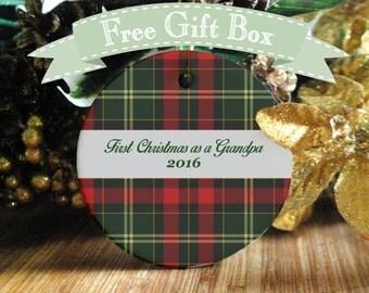 First Christmas as a Grandpa Ornament