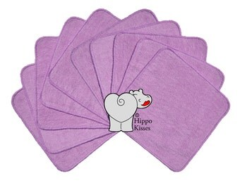 Baby Washcloths Lavender 10 Pack