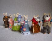 Wee Family of Mice Reserved For Lisa