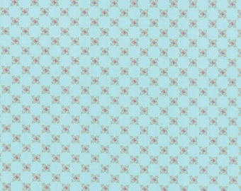 Kindred Spirits by Bunny Hill Designs - Small Rose Aqua - Moda 2898 20