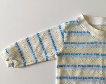 1980's Million Dollar Baby Knit Top (12 months)
