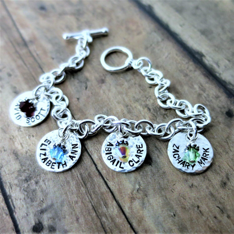 Family Charm Bracelet Jewelry for Mom