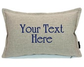 Custom Embroidered Pillow Cover -  Say Whatever You Want - Wedding Gift - Gifts That Matter -Birthday - Housewarming - Holiday