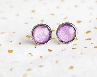 Purple Berry Studs, Purple, Berry Studs, Purple Studs, Magenta Studs, Stud Earrings, purple stud earrings, magenta stud earrings, berry