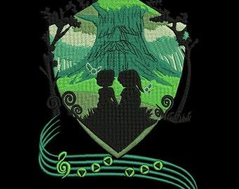 Legend of Zelda Deku Tree Machine Embroidery design