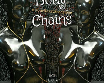 Body Chains, Silver & Gold ~ YourWaistBeads.com