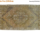 10% OFF RUG SALE 2x3 Distressed Oushak Rug Mat