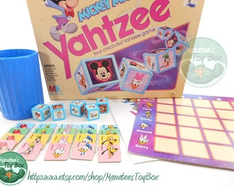 Vintage Mickey Mouse Yahtzee Board Game Complete 1980s