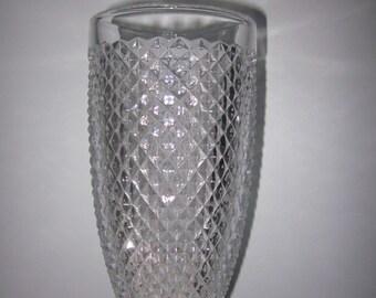 Crystal Nachtmann Vase with logo,charming glass,Shabby Chic,tabletop, Diamond Point