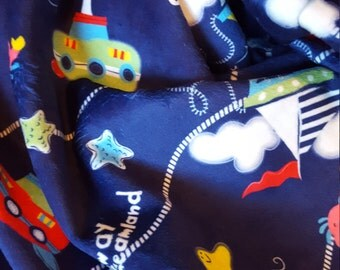 Nautical Minky Smooth Baby Blanket-Ready to Ship