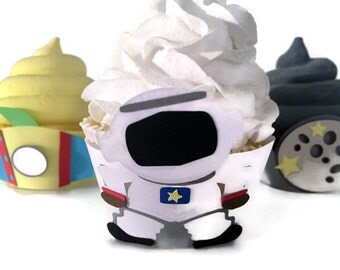 Astronaut Cupcake Wrappers - Set of 12