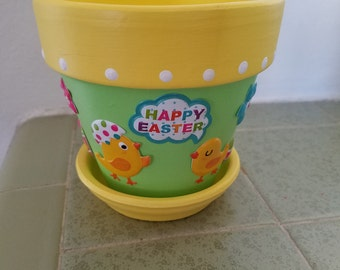 Easter flower pot or candle holder