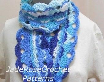 Crochet Infinity Scarf Pattern, Crochet Cowl Pattern, Circle Scarf Pattern, Go with the Flow Infinity Scarf, PDF235