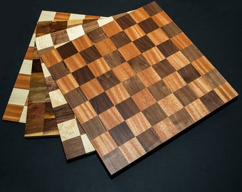 Borderless Competition Sized Hardwood Chess Boards  Checkers Boards Chess board Checkers Board --FREE SHIPPING To Lower 48 States!--