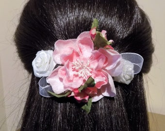 Large Barrette Flower for Thick Hair/ Womens Gift