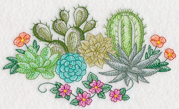 Dibujo estilo cactus suculentas matriz harina saco toalla de for Curso cactus y suculentas