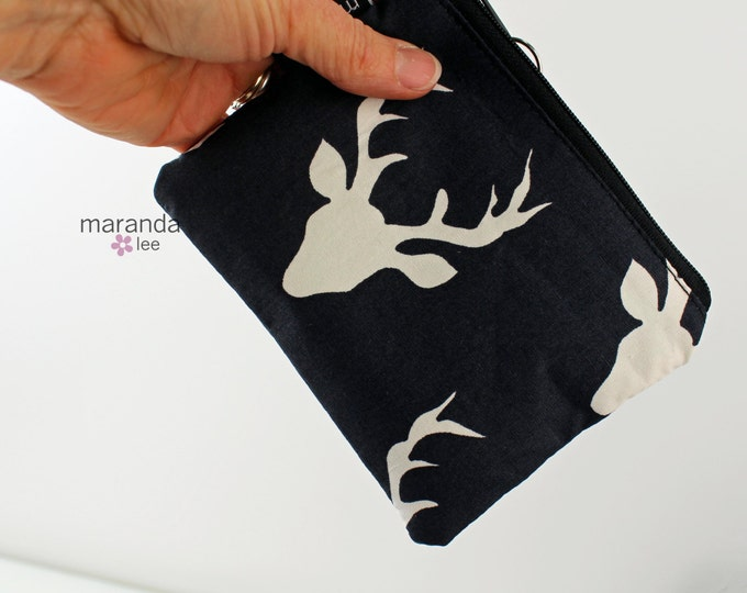 Coin Purse- Buck Heads -  Zipper Wallet Coin Purse-Zipper pouch