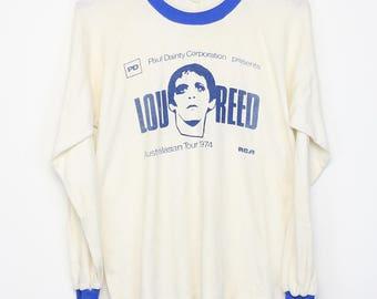 Lou Reed Shirt Vintage tshirt Rare 1974 Australian Tour concert tee 1970s Rock n Roll Animal Live Album Art Pop Punk Velvet Underground 70s