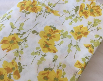 Vintage Twin Flat Bedsheet-Yellow Floral- Single Bedsheet