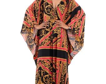 Kaftan, Kaftan dress, Loose fit dress, Maxi dress, Plus size dress : Funky Elegant Collection No.1p