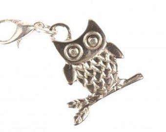 Owl Owls Charm for Bracelet Wristlet Dangle Miniblings owl Bird owl silver