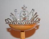 Vintage Rhinestone Tiara Elegant Princess Bridal Wedding Crown Head Piece