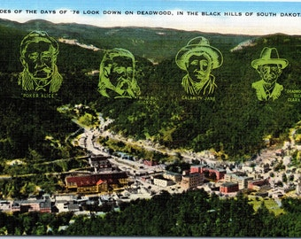 Black Hills, South Dakota, Deadwood - Linen Postcard - Postcard - Unused (R)