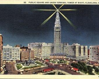 Cleveland, Ohio, Public Square, Union Terminal Tower - Vintage Postcard - Postcard - Unused (TTT)